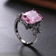 Модные романтичные свадебные кольца розовые синие зеленые черные