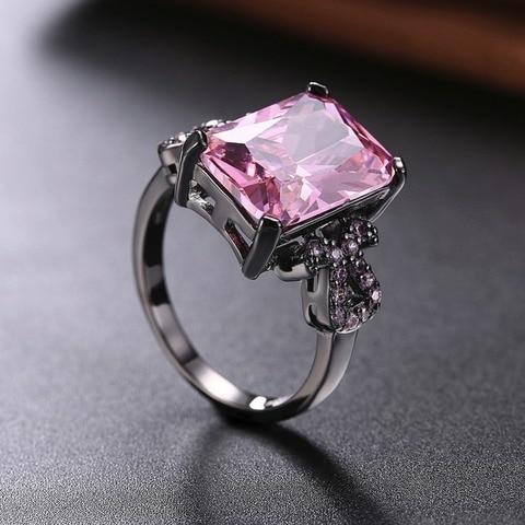 Купить модные романтичные свадебные кольца розовые синие зеленые черные