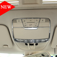 For Mercedes Benz E Class W213 GLC C Class W205 C180 C260 2015 2017 Car Accessories ABS Front Reading Light Decorate Frame Trim
