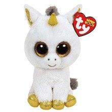 Ty Beanie Boos Stuffed Plush Animals White Unicorn Doll Toys For Girls With Tag 6 15cm