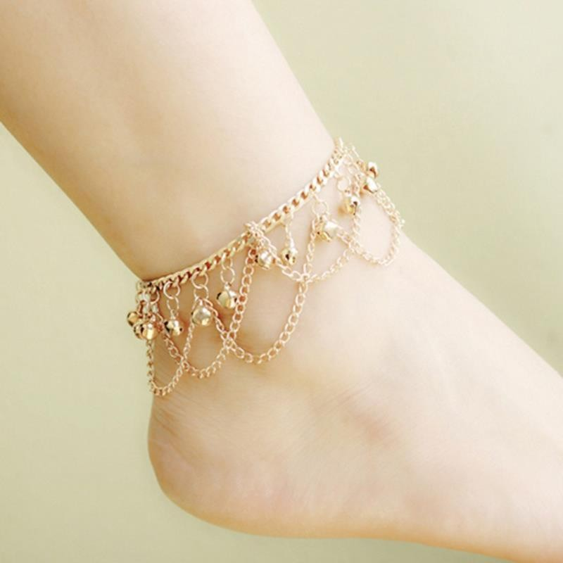 New Hot Tassel Anklet New Ankle Bracelet Pulseras Tobilleras Gold font b Jewelry b font For