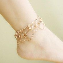 New Hot Tassel Anklet New Ankle Bracelet Pulseras Tobilleras Gold Jewelry For Women Summer Fine Barefoot Sandals Accessories