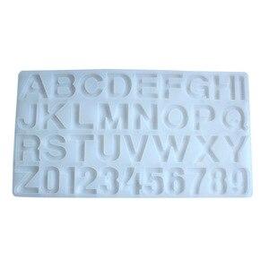 Image 5 - Snasan 1 pc molde de silicone tamanho grande letras número resina silicone molde pingente artesanal diy jóias fazendo ferramenta resina cola epoxy