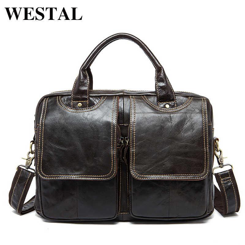 0032f83a49a6 ... WESTAL многоцелевая повседневная сумки мужские через плечо мужская кожаная  сумка мужская натуральная кожа сумочки портфель сумка ...