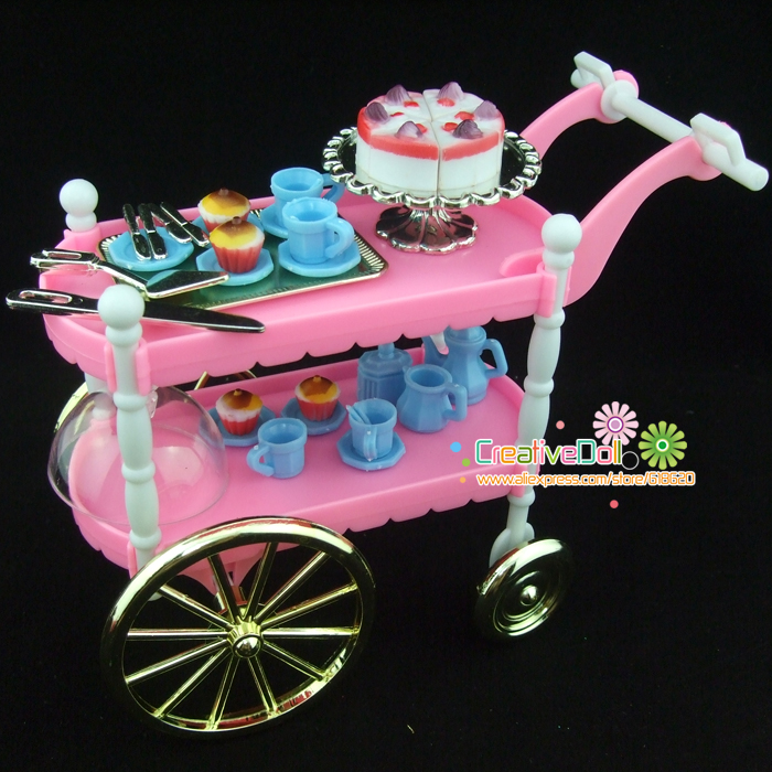 Funny toys for baby girls play doll house toys Cake Car Accessories ...