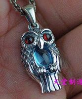 Cute girls section 925 sterling silver fine Owl Pendant