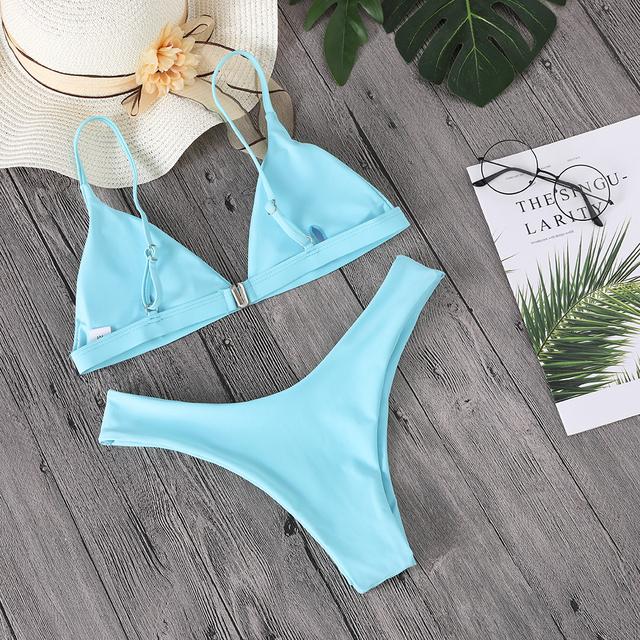 Solid Bikini Sets Women's Swimsuit