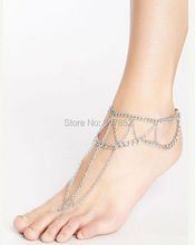 FREE SHIPPING New Style L54 Women Fashion Silver Chain Anklet Chunky Chain Jewelry 3 colors