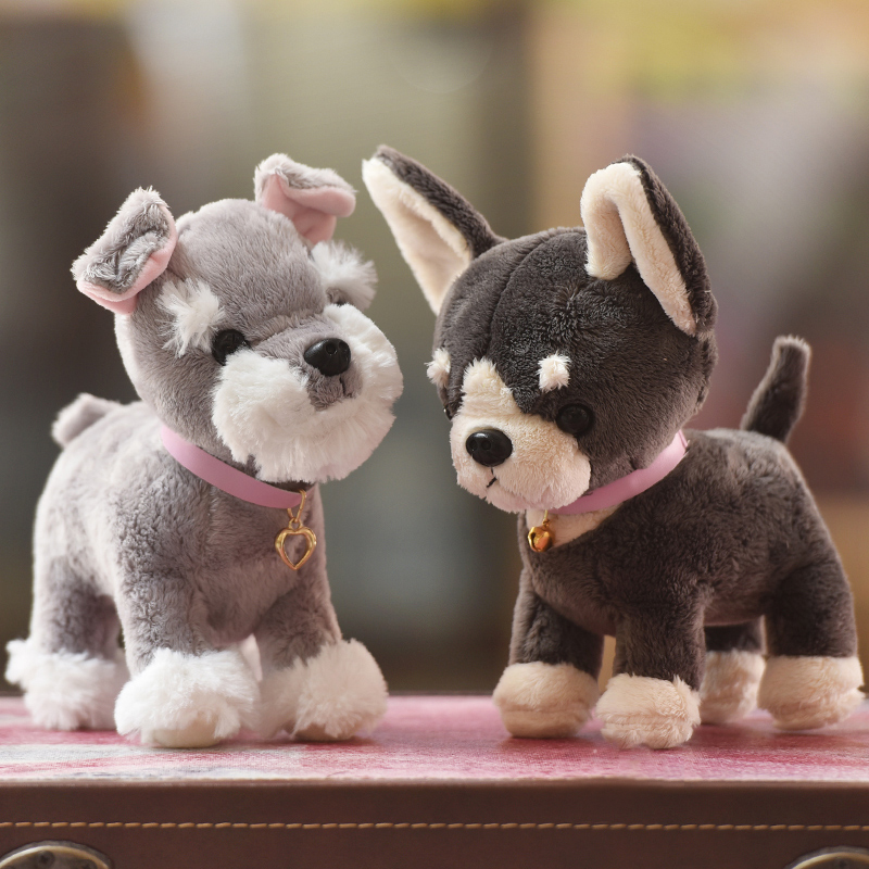цена на Simulation dog plush toy 20cm Husky /Shepherd dog/ Belldog / Chihuahua / Schnauzer / Labrador Soft Stuffed dolls Kids toys