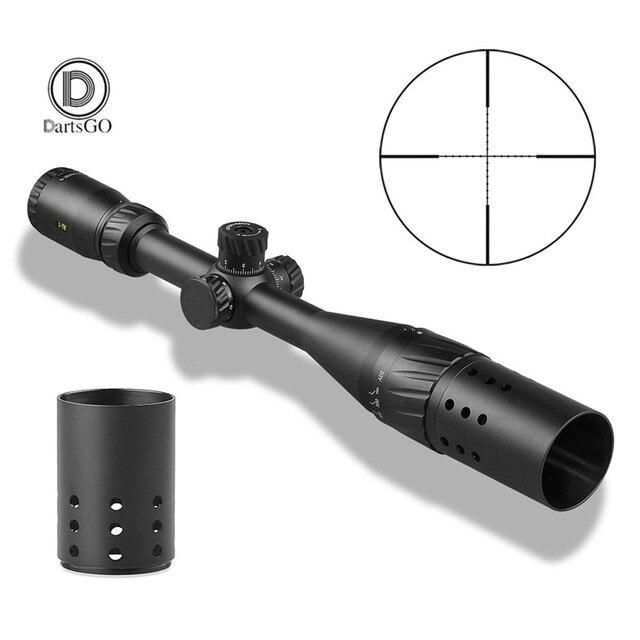 DDartsGO 4 16X44AOE Outdoor Jagd Zielfernrohr Mil Dot Beleuchtet Absehen Tactical Optische Sehenswürdigkeiten Mit Sonnenschirm