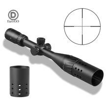 Ddartsgo 4 16x44aoe 야외 사냥 riflescope 밀 도트 조명 된 레티클 전술 광학 광경 양산