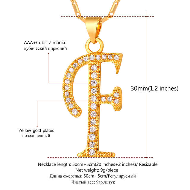 Online Shop Starlord Initial F Letter Pendants Necklaces Women Men Personalized Gift Alphabet Jewelry Gold Color Necklace P1676 Aliexpress Mobile