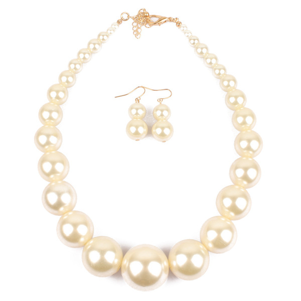 Trendy Big Simulated Pearl...