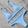 RUUHEE Bikini 2017 Sexy Swimsuit Women Halter Bandage Swimwear Female Thong Bikini Set Push Up Bathing