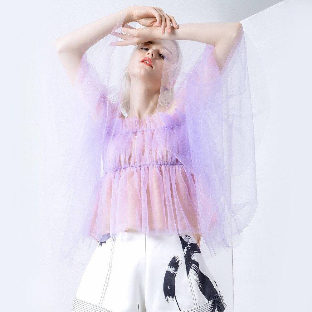 Hors Femmes L'épaule Cou Blanc Sexy Slash Chemises Dentelle Getsring white Tops Court Été Top De Toutes Les Sélections Purple Blouses Printemps tIYnwqqd