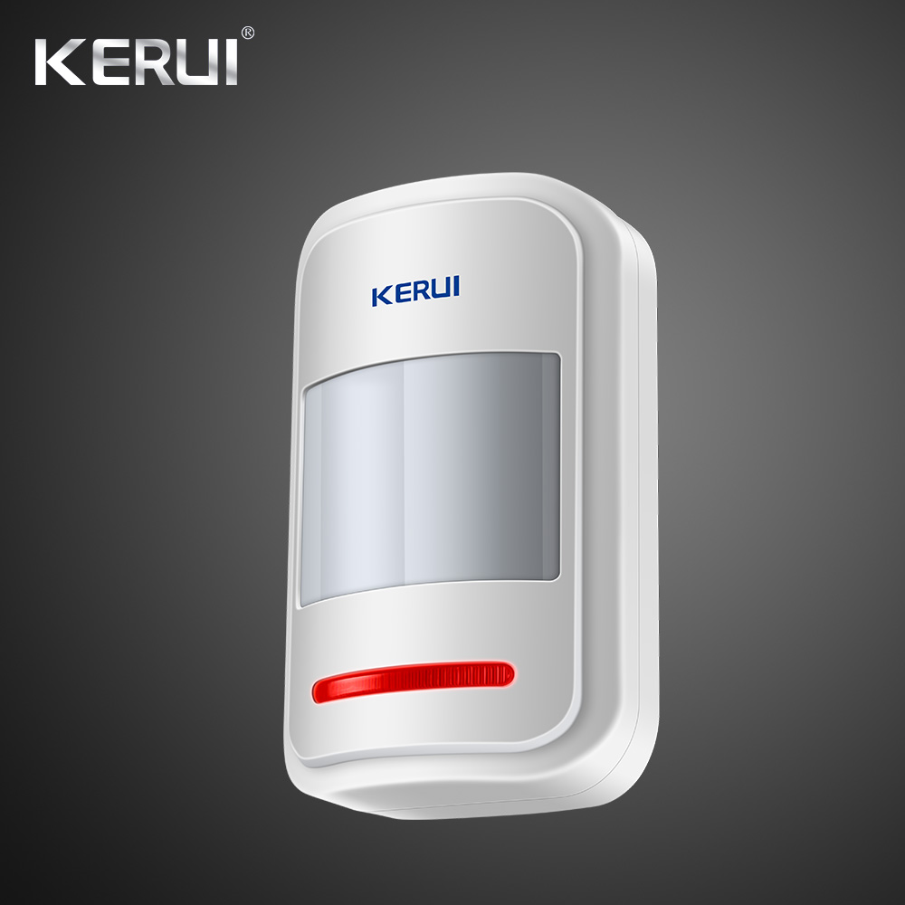 Kerui Rechargeable 5V USB 433MHz Wireless PIR Sensor Motion Detector For GSM PSTN  Security Alarm System Auto Dial Alarm Kit 1