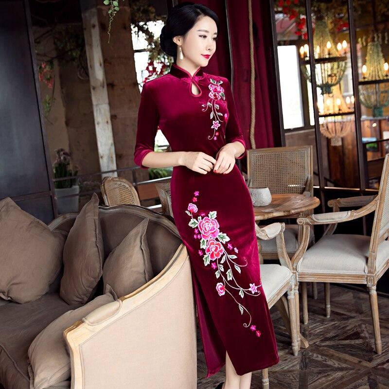 Nouvelle 4xl Arrivée Xxxl 8430 Robe Taille Sc010 À Style S Cheongsam Xl De Xxl Velours Femmes La Élégante Qipao 92962 Long M 5xl Mode L Chinois 8431 sc009 NOk0wP8nXZ