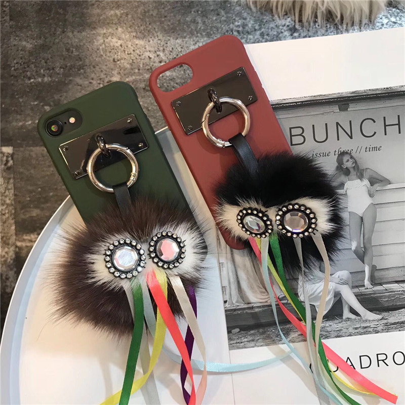 NEW Fashion Cute 3D Owl EYE Tassels PU Leather Soft Mobile Phone Cases For iPhoneX 8 8Plus 7 7Plus 6 6S 6Plus Protective Shell