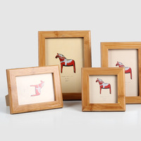 2017 DIY Wooden Photo Frame New Design Craft Home Decoration Glass Picture Frame Horse Pattern Pictures Stand Decorative Frames