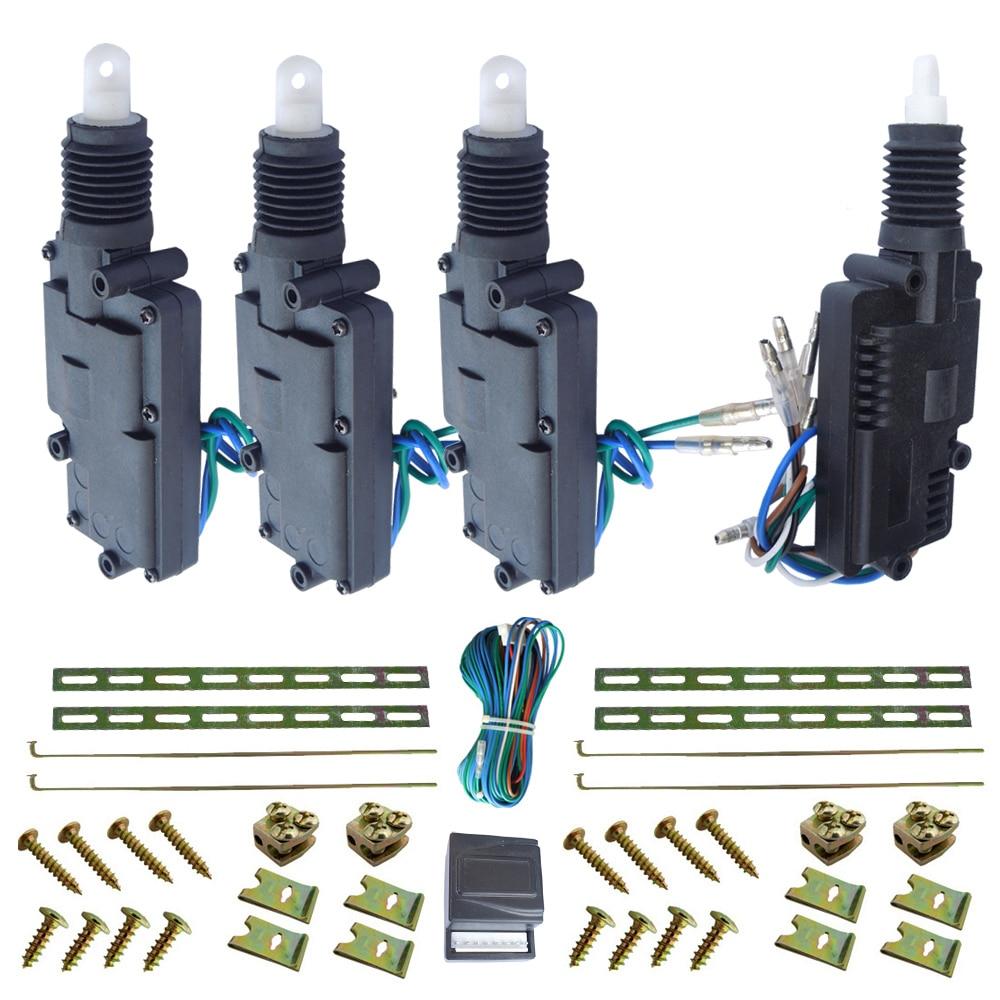 1 mater 3 esclaves kits de serrure de porte centrale grande force de traction 12 V actionneur 360 degrés rotation tête de moteur fonctionnant avec alarme de voiture