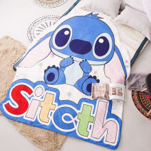 Japanese style Totoro blue sitcth Anime animal Irregular Summer Thin Quilt Air Condition Blanket Children quality home textiles(China)