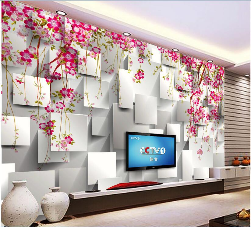 Custom photo 3d wallpaper Non-woven mural grid flowers background decoration painting 3d wall murals wallpaper for walls 3 d custom photo 3d wallpaper non woven mural 3d wall murals wallpaper for living room european watercolor roses decoration painting
