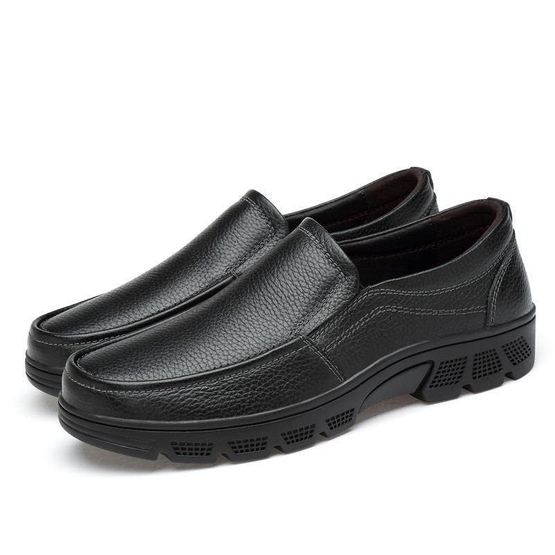 Simple Marque Slip sur Taille 49 Véritable Habillées En Bonne Chaussures Qualité 38 Nouveau Laisumk Grande Cuir Homme brown Black 2019 Hommes aTwzqandxU