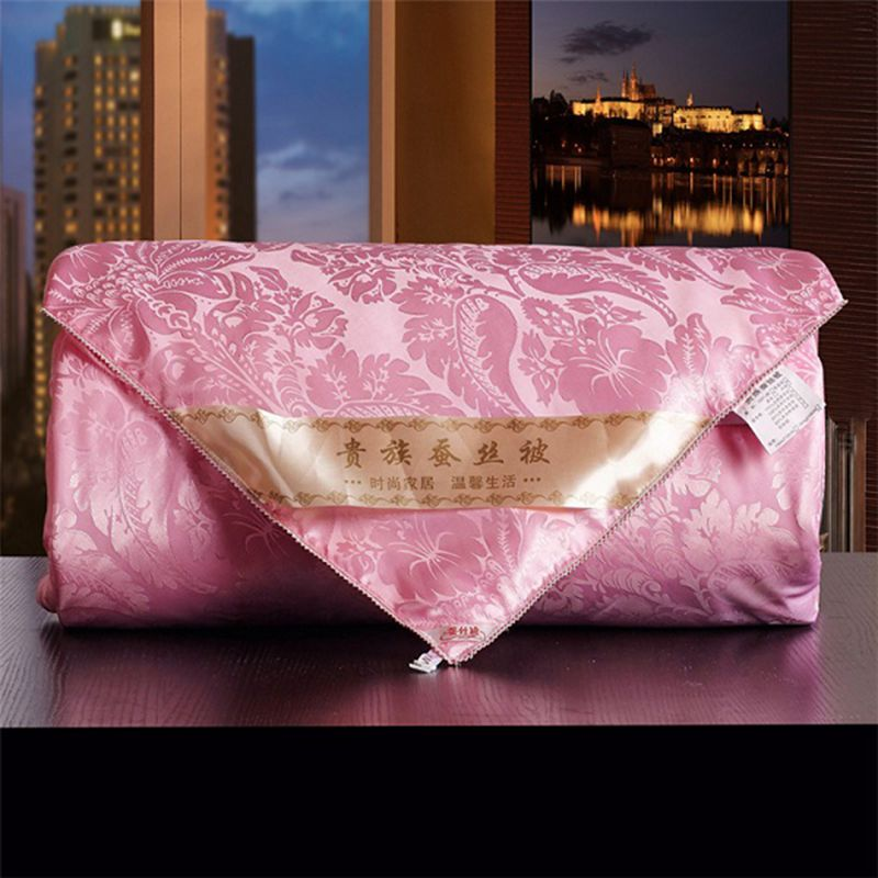 Pink White 100%Silk Comforters 2-4kg Manual Natural Silk Quilts Cozy Pretty Tribute Silk Blankets High Quality Bedding Quilts