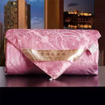 Pink White 100%Silk Comforters 2-4kg Manual Natural Silk Quilts Cozy Pretty Tribute Silk Blankets High Quality Bedding Quilts - DISCOUNT ITEM  0% OFF All Category