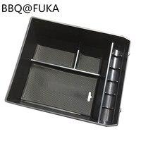 BBQ FUKA 1pcs Center Console Armrest Storage Box Tray Fit For Toyota Land Cruiser Honda Prado