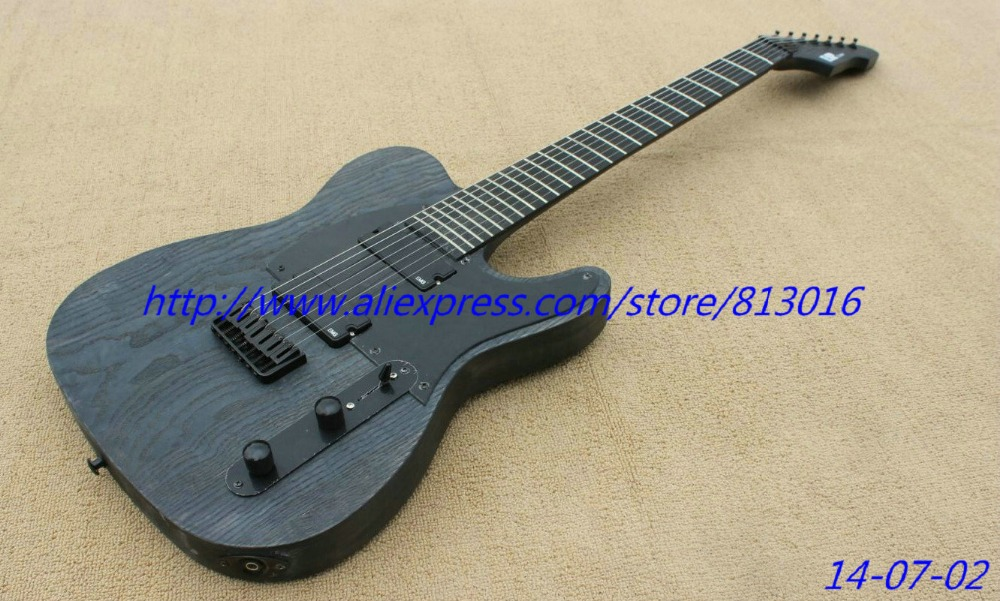 Hot ! custom-made electric guitar TL shape neck thru model,belly cut, active pickups with battery box! 3ts with pickups custom shop acoustic guitar free shipping custom made it direct manufacturer beautiful and wonderful j 200