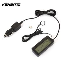 Vehemo Mini Digital LCD Car Thermometer Voltmeter Auto Indside/Outside Water Temperature Meter Gauge Instruments DC 12-24V