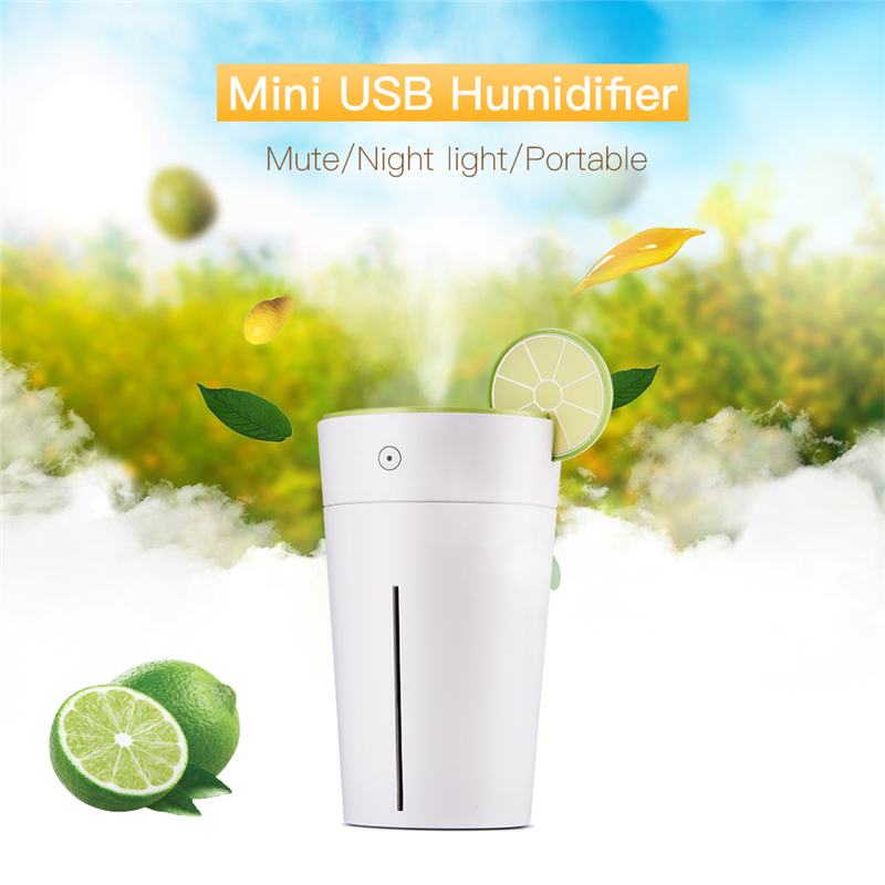 Portable USB Ultrasonic Mist Humidifier for Home Office Car Travel 200ML Large Capacity Humidifier Air Purifier Colorful Light portable mini air humidifier purifier night light with usb for home office decorations