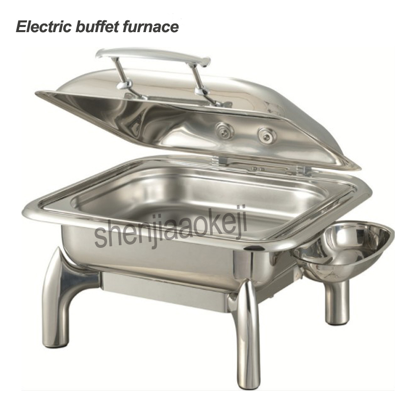 400w Commercial Stainless steel buffet stove Electric heating round Buffet stove Restaurant Square food Insulation furnace 220v 400w Commercial Stainless steel buffet stove Electric heating round Buffet stove Restaurant Square food Insulation furnace 220v
