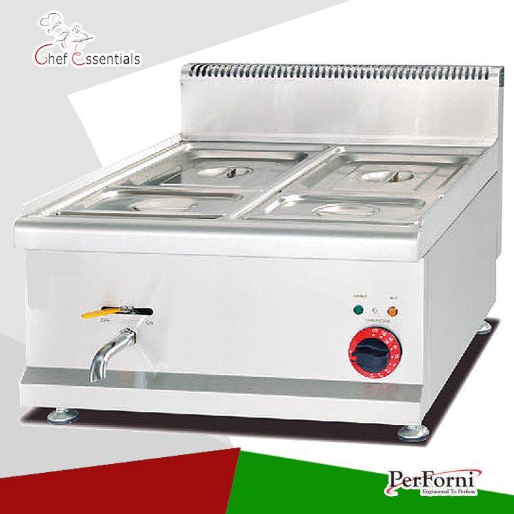 Pkjg 684 counter top electric bain marie 4 pan for for Cuisson four bain marie
