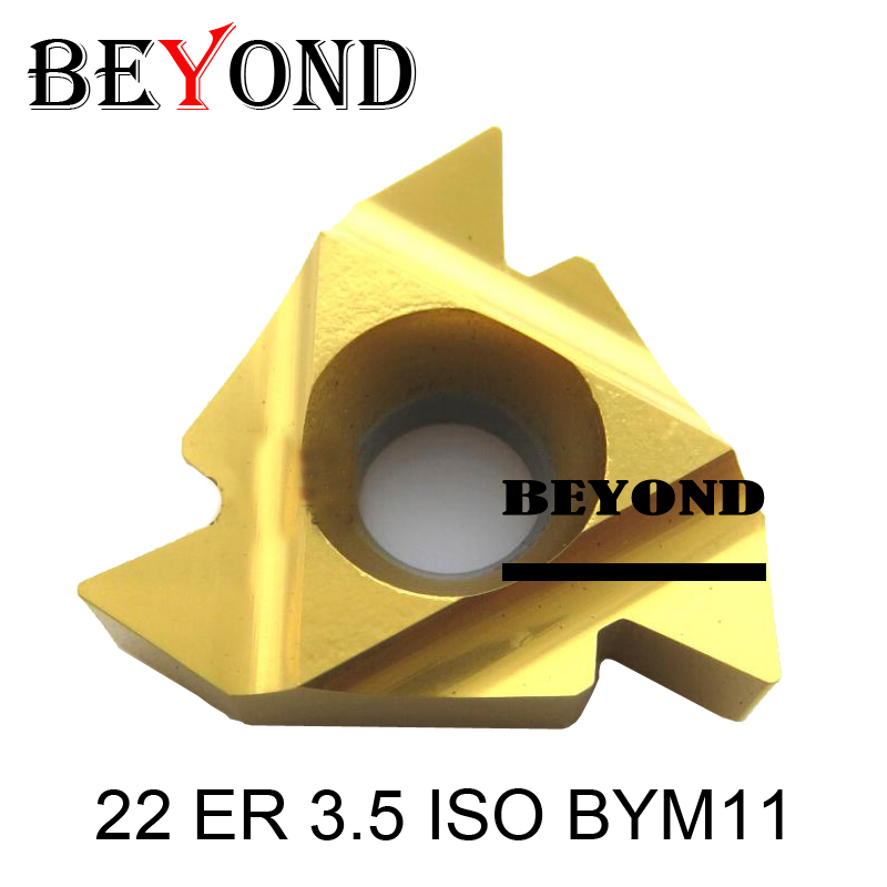 Original 22ER 3.5ISO/22ER 4.0ISO/22ER 4.5ISO,external Threading Insert Yellow Coating 22ER 5.0/5.5/ 6.0ISO BYM11