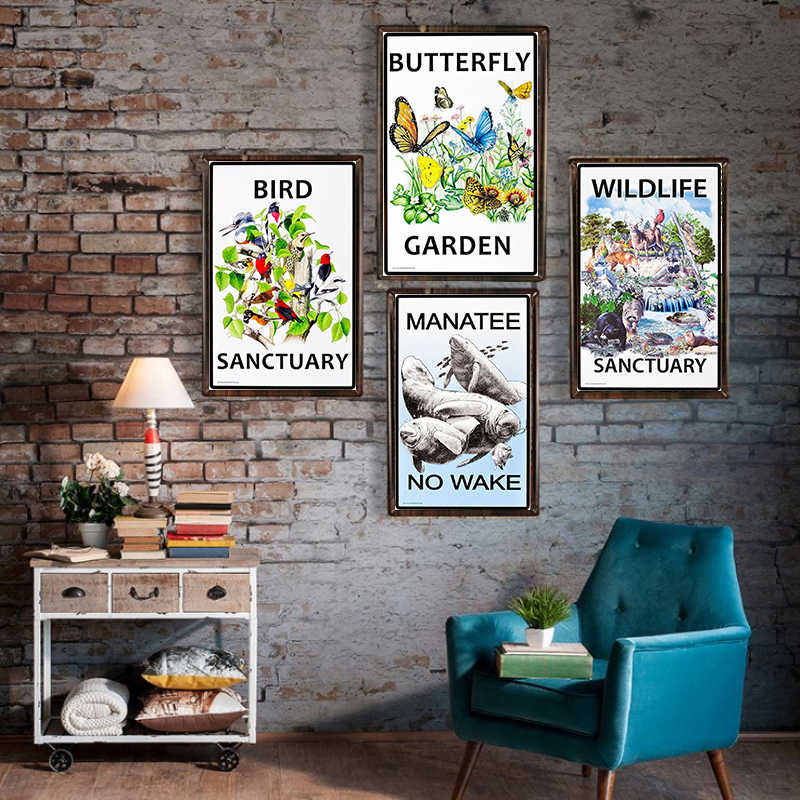 Butterfly Vintage Metal Tin Signs Home Bar Club Pub Metal House Decorative Metal Plates Wall Stickers Poster 1001 693 in Plaques Signs from Home Garden