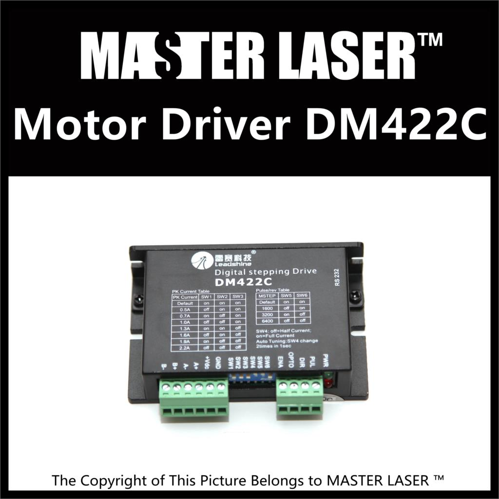 Leadshine 2 Phase Stepping Motor Drive DM422C for Laser Engraving/Cutting Machine Stepper Motor Driver leadshine 2 phase stepping motor drive ma860h for laser engraving cutting machine stepper motor driver