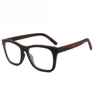 Image 3 - 100% 천연 나무 안경 프레임 남자에 대 한 목조 여성 광학 안경 케이스 56342 와 명확한 렌즈