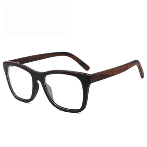 Image 3 - 100% Natural Wood eyeglasses Frame for Men Wooden Women Optical Glasses with Clear Lens with case 56342