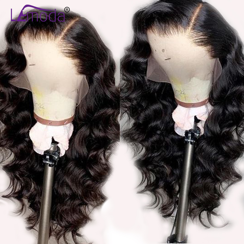 Loose Wave Wig Lace Front Human Hair Wigs Pre Plucked Lemoda Remy Free Part Hair PrePlucked