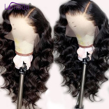 Loose Wave Wig Lace Front Human Hair Wigs Pre Plucked Lemoda Remy Free Part Hair PrePlucked Brazilian 13x4 Lace Frontal Wig(China)