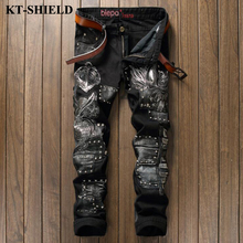 Men Jeans New Arrival Black Cotton Denim Pants for Man Biker Distressed Pants Male Fashion Brand Jeans Men Vaqueros Hombre