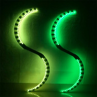 RE20 Club show led light costumes dj dance stage wears RGB colorful led sticks glowing nunchucks party dress clothing led show