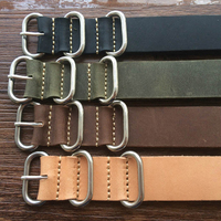 1PCS High Quality 18MM 20MM 22MM 24MM 26MM Strap Genuine Leather Watch Band For NATO Straps