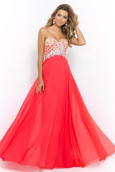 Light Blue Red Blush 9998 Prom Dresses Chiffon Backless 2017 Sweetheart Beaded Crystal Pageant Evening Gowns Ruched Floo In From