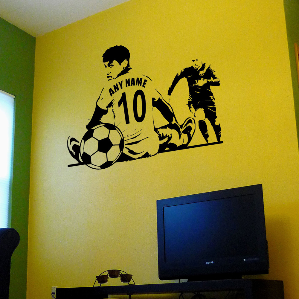 Custom Jersey Name and Number Wall Art Soccer Wall Decal Decor Vinyl ...