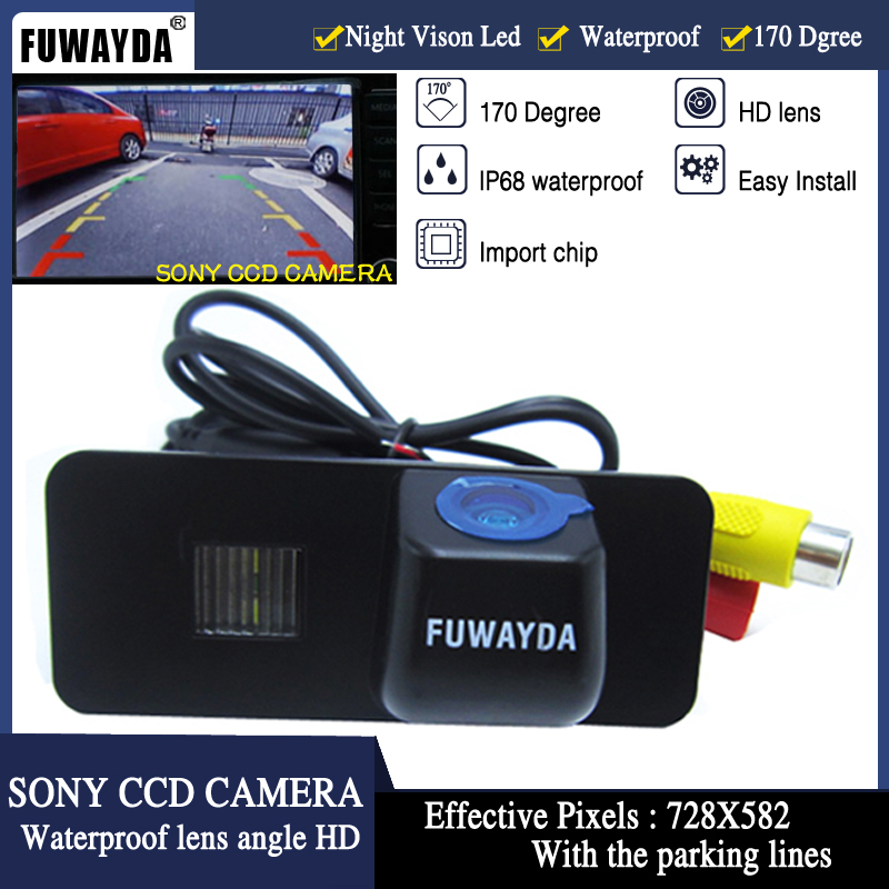 FUWAYDA SONY CCD Car Rear View REVERSE CAMERA for Volkswagen VW PHAETON/SCIROCCO/GOLF 4 5 6 MK4 MK5 /EOS/LUPO/BEETLE Guide LineFUWAYDA SONY CCD Car Rear View REVERSE CAMERA for Volkswagen VW PHAETON/SCIROCCO/GOLF 4 5 6 MK4 MK5 /EOS/LUPO/BEETLE Guide Line