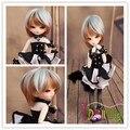 Жаропрочных короткие светло-голубой и коричневый смесь куклы парики для 1/3 1/4 1/6 BJD куклы