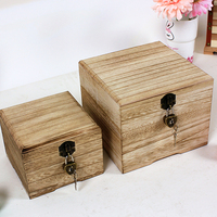 Lockable storage box for za kka wooden box Large wool stationery desktop finishing box miscellaneously